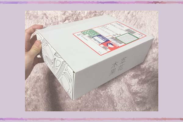 草花木果の箱がおしゃれです。